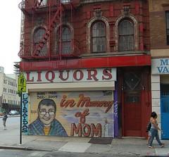 in Memory of MOM (Mattron) Tags: nyc newyorkcity streetart eastvillage newyork building les graffiti mural memorial manhattan lowereastside gothamist houstonstreet liquors oldsign alphabetcity heatwave avenueb loisaida inmemoryofmom loisaidas