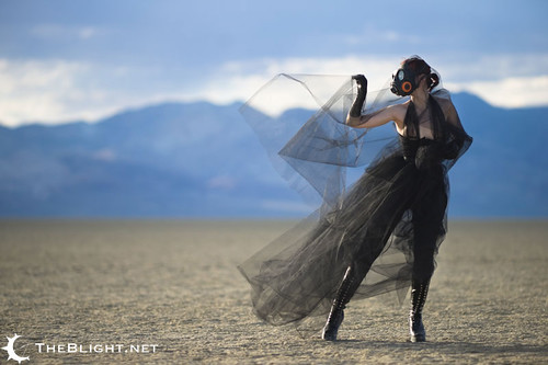 desert nevada playa gloves gasmask tulle kneehighboots blackrock juplaya elbowgloves notanevent quaintrelledesigns