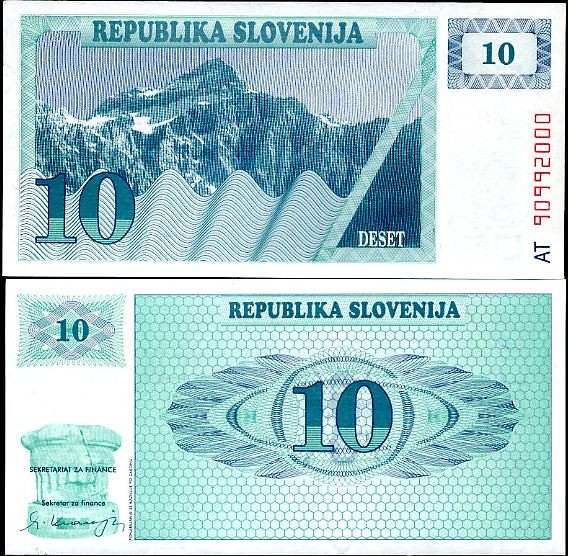 10 Tolarjev Slovinsko 1990, P4