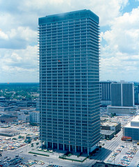 Houston - Exxon Building (1978) (roger4336) Tags: skyline downtown texas houston 1978 exxon exxonmobil exxonbuilding