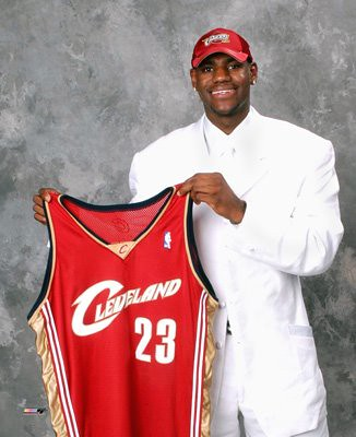 LeBron Draft Day