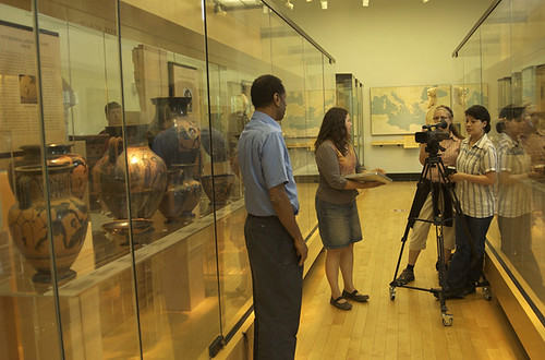 Filming the ASL Tours at the Penn Museum.