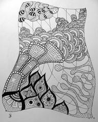 Blowing Off Steam (Jo in NZ) Tags: pen ink drawing line doodle zentangle nzjo zendoodle