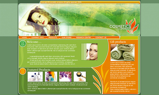 Free Flash Website Template Cosmetics Shop | Flickr - Photo Sharing