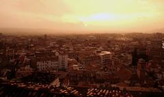 Blick auf Ganada nach einem Regenguß, Andalusien