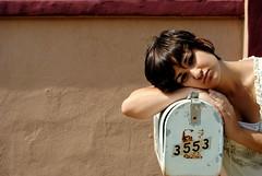 falling through (names across the sea) Tags: portrait selfportrait color girl mailbox abby reason pippen delrio