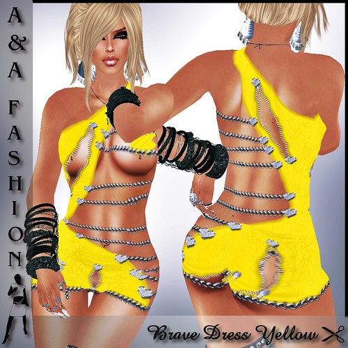 A&A Fashion Brave Dress Yellow