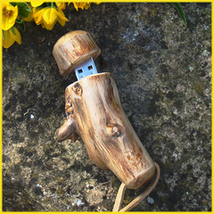 USB Folksy wooden memory stick (voigtlander) Tags: wood drive pc geek laptop flash memory usb yew gadget geekery