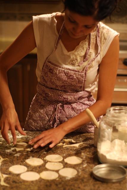 shanna making ravioli
