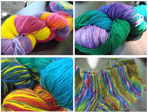 Yarn handdyed by Angelika