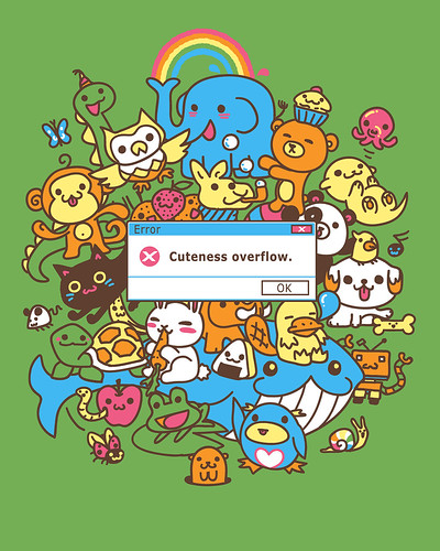 Error: Cuteness Overflow t-shirt (by Spiritgreen Art)