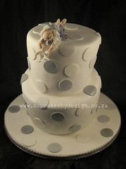 Silver and white Christening (Dot Klerck....) Tags: dot fairy dots topsyturvy cupcakesbydesign