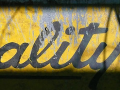 Typography on the farm (douglasspics) Tags: old sign metal typography signage type script