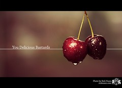 You Delicious Bastards (Rick Nunn) Tags: red water fruit cherry stem cherries moisture explored p502 p502010