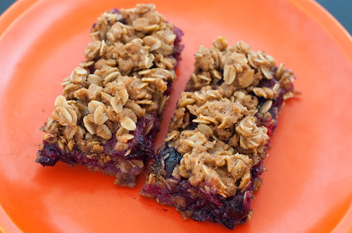 Blueberry and apricot oat bars