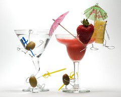 Party Crashers (ICT_photo) Tags: party glass frozen strawberry olive martini blender daiquiri crashers pinapple