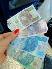 Love the way the Polish money looks! (ShambLady) Tags: poland zloty currency banknote papiergeld koers polen geld money dinero bling geldbiljet centjes cash hands handen hand mano nail nails nagel duim nagellak nailpolish red rood zoty polonia   polacco  polska pologne poljska polsko  polish polujo lengyelorszg polonya poloni pole plland  puola
