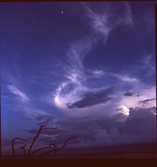 the day turns (Decatur Wilson Jr.) Tags: wood sky storm film river berry poem dusk slide bronica wendell sqa drift