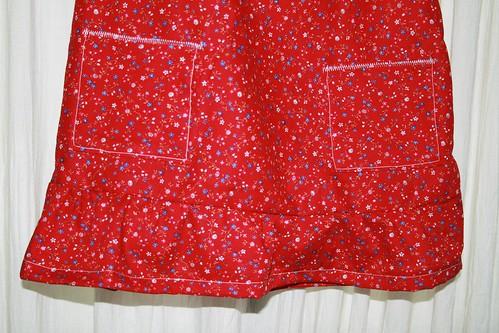 2nd Birthday Dress - closeup of pockets and ruffle
