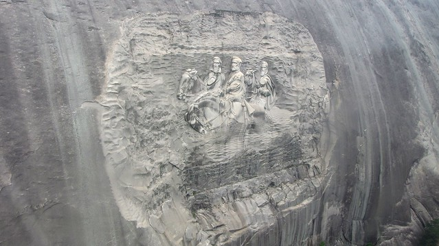 Stone Mountain from midair