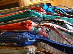 The wristlet factory (mouses in houses) Tags: bag handmade sewing fabric purse couture wristlet sacamain faitalamain