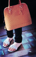 (heartbreaker [London]) Tags: orange london bag gold gina knightsbridge ostrich purse sandal swaroviski abab 7ubi abdulmjeed meemyy