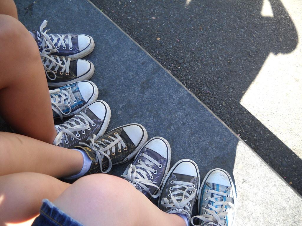 Little Missmatched Shoes Kids Converse