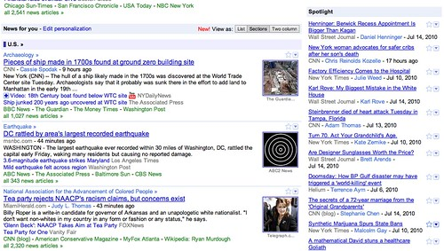 Google News Design Change