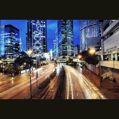 The Future City ([~Bryan~]) Tags: road city hongkong lights cityscape traffic lighttrails queensway admiralty lightstream futurecity gettyimageshongkongmacauq1