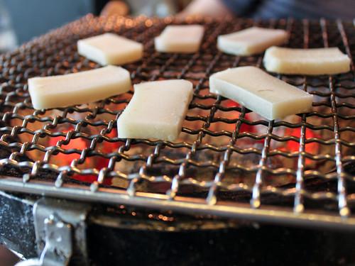 Grillin' mochi