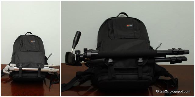 Lowepro FastPack 250 - Ce facem cu trepiedul ?