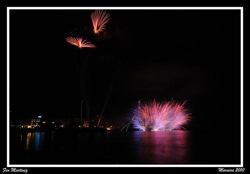 Fuegos artificiales Moraira 2010