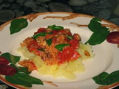 Spaghetti Squash with Baked Tomato Sauce