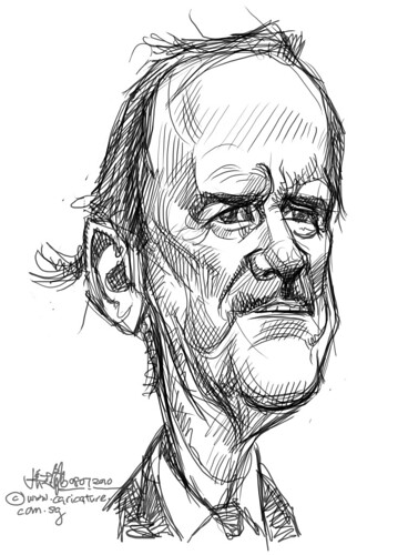 digital sketch studies of John Cleese - 3