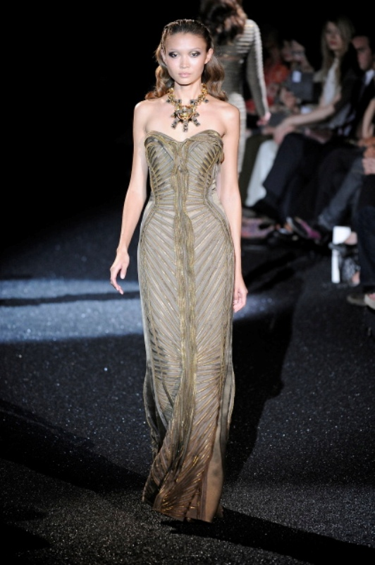 Basil Soda FW2010 collection zipper evening gown dress 13