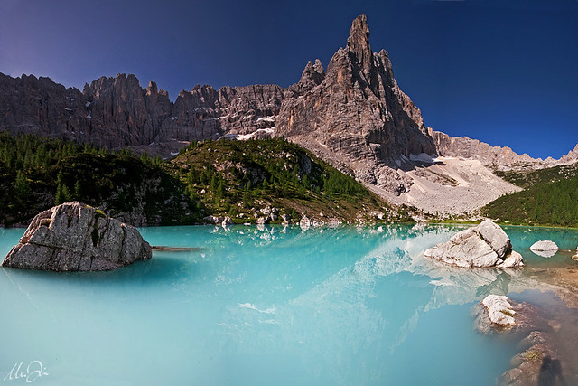 The fabulous lake Sorapiss, photographed by Marco Dian