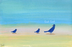 Good (Apaul) Tags: blue bird paper acrylic colorpencil 201007