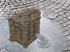Campanile- Ferrara (Elianto Blu) Tags: italien italy reflection italia campanile ferrara italie emiliaromagna riflesso pozzanghera