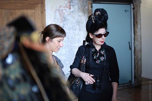 Diane Pernet at Palazzo Fortuny
