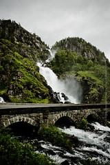 Latefoss - Hardangerfjord, Norway (MeetaK) Tags: vacation nature norway landscape europe norwegian waterfalls hardangerfjord latefoss meetak