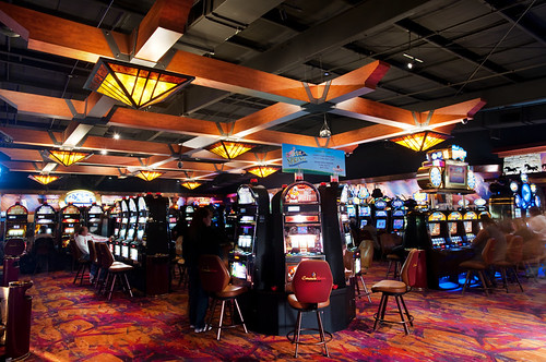 Timberframe Casino Décor | Custom Mica Chandelier | Comanche Nation Casino
