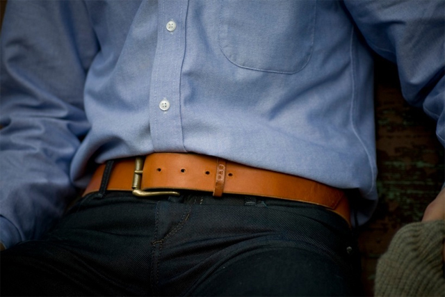 Palmer & Sons Leather Belt No 15a 05