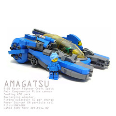 Amagatsu (Hase0) Tags: blue anime japan japanese fighter ship lego space orbital spaceship deathray spacecraft racer moc spacefighter shipspace hase0