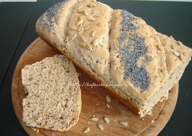 paine cu seminte de floarea soarelui