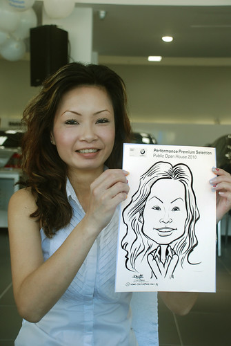 Caricature live sketching for Performance Premium Selection BMW - Day 2 - 3