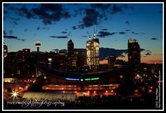 Calgary Saddledome - Calgary Stampede 2010 (Sean Phillips) Tags: park city canada calgary skyline night town saddledome downtown cityscape place hill arena alberta dome rink saddle stampede calgarytower calgarysaddledome tomcampbell pengrowth tomcampbellshill photobyseanphillips