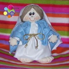 Maria (Oficina da Cor) Tags: santa boneco igreja porta feltro santo peso tecido enfeite catlica recheio fibra siliconada