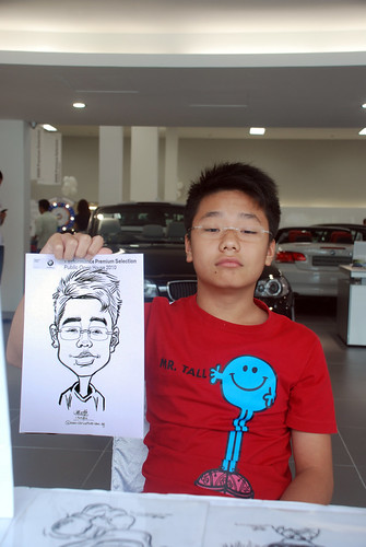 Caricature live sketching for Performance Premium Selection BMW - Day 3 - 7