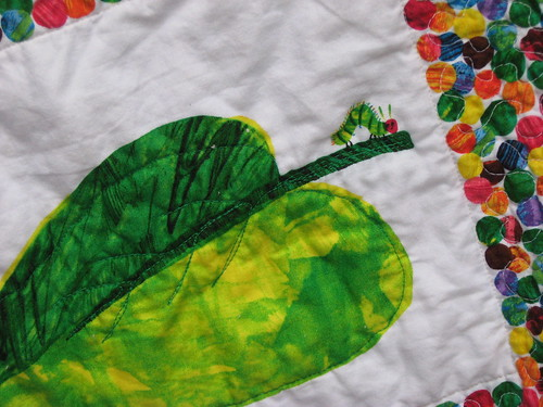 Quilting Detail - leaf