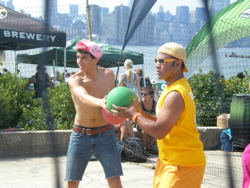 Dodgeball at JellyNYC's Pool Parties, July 18, 2010